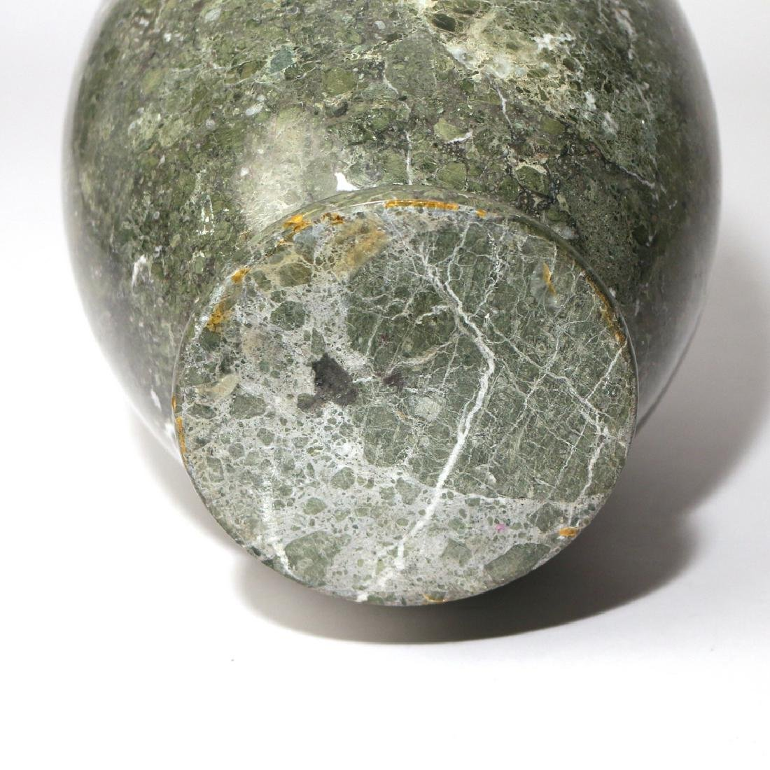 GREEN TURNED MARBLE VASE - 5