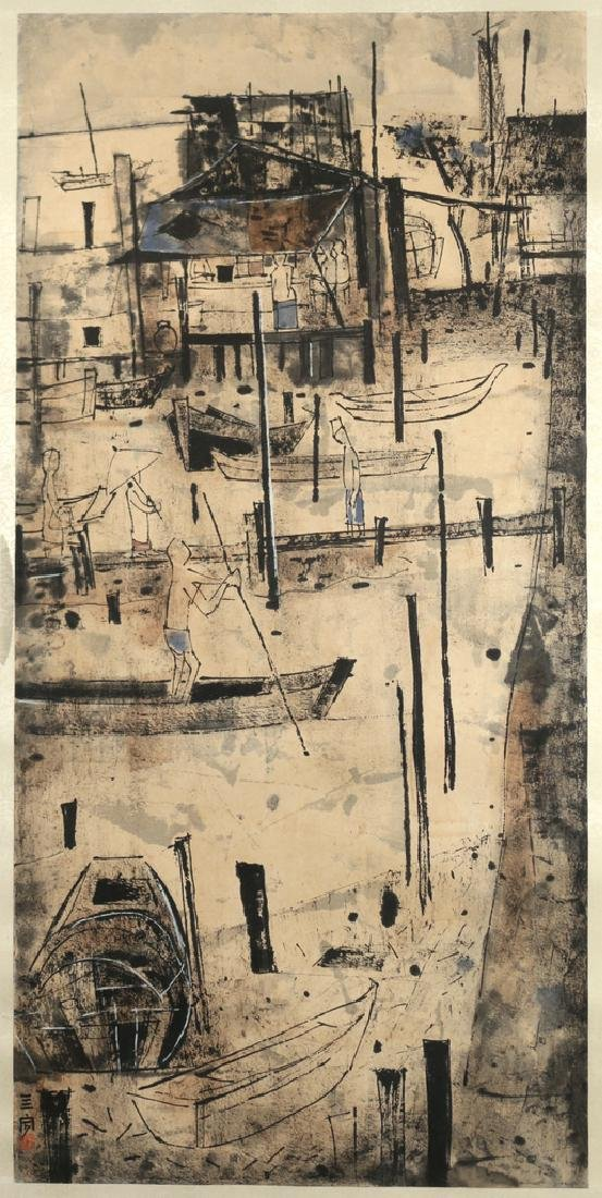 MODERNIST CHINESE SCROLL - 2