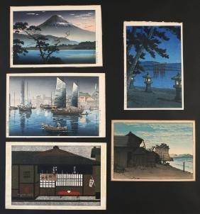 (5pc) MISC. JAPANESE WOODBLOCK PRINTS