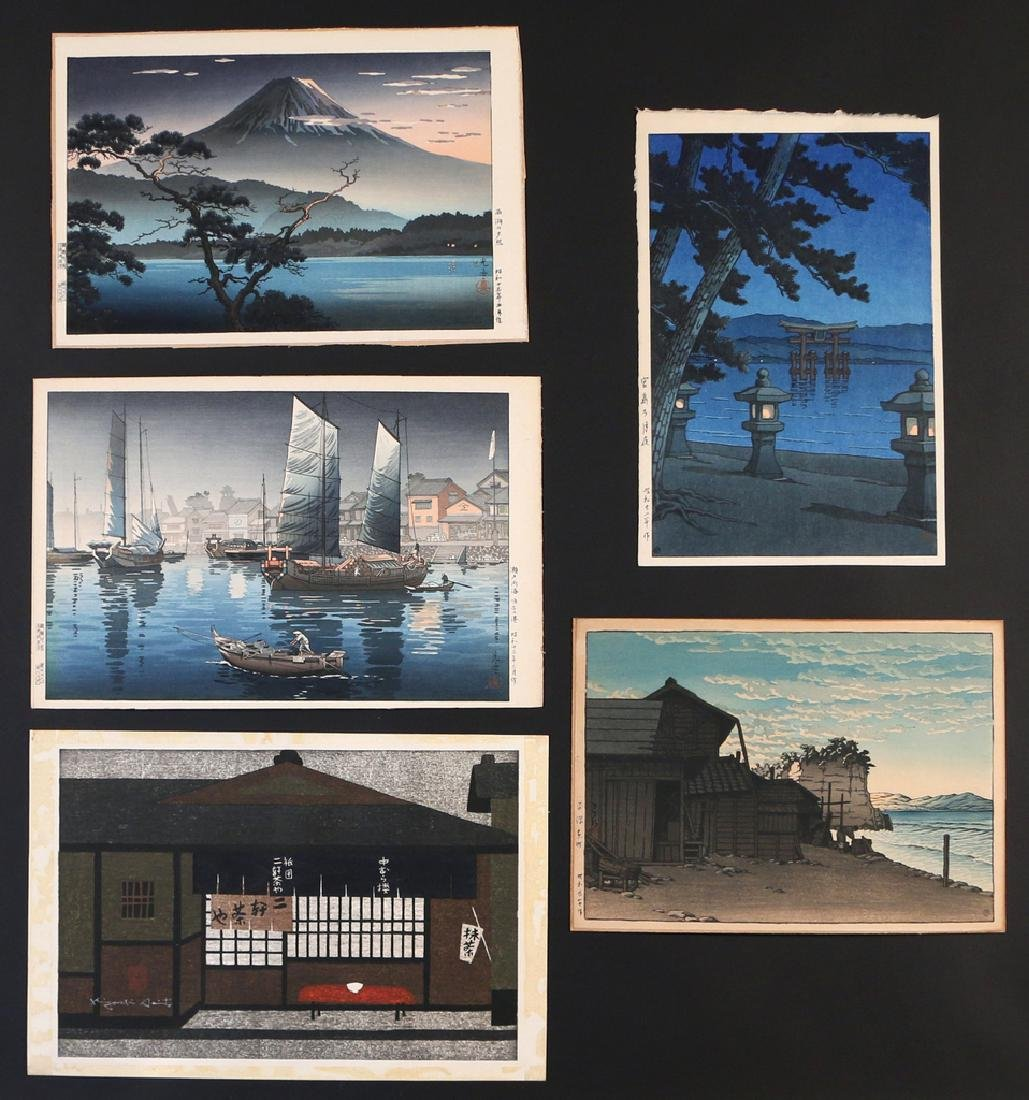 (5pc) MISC. JAPANESE WOODBLOCK PRINTS