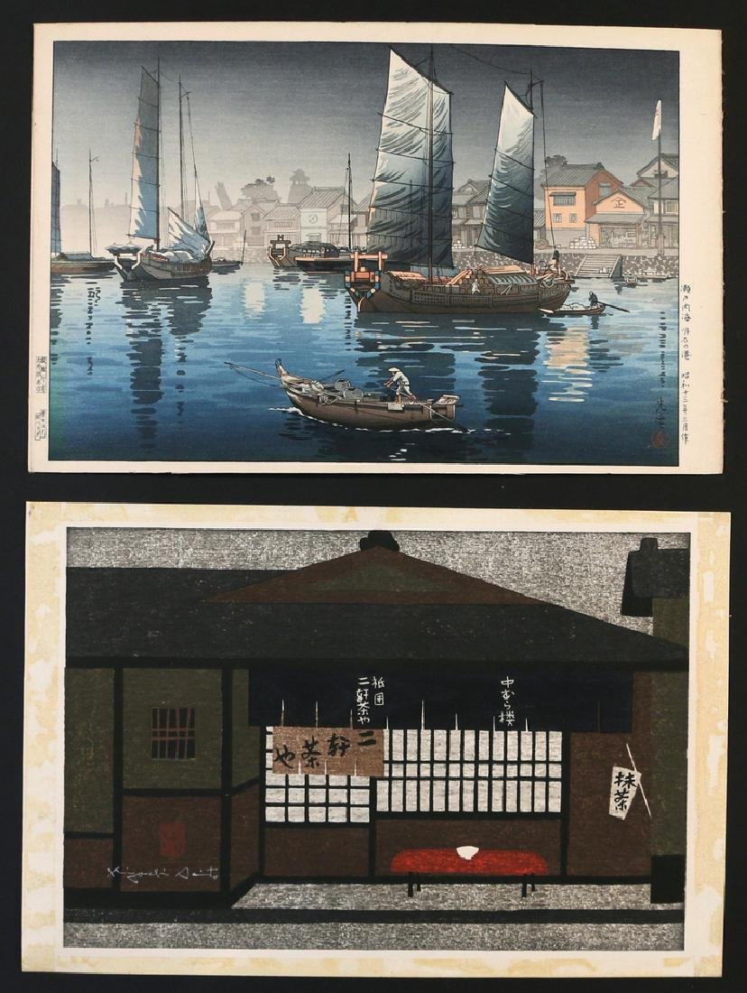 (5pc) MISC. JAPANESE WOODBLOCK PRINTS - 2