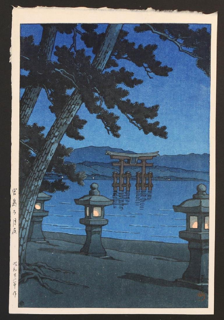 (5pc) MISC. JAPANESE WOODBLOCK PRINTS - 4