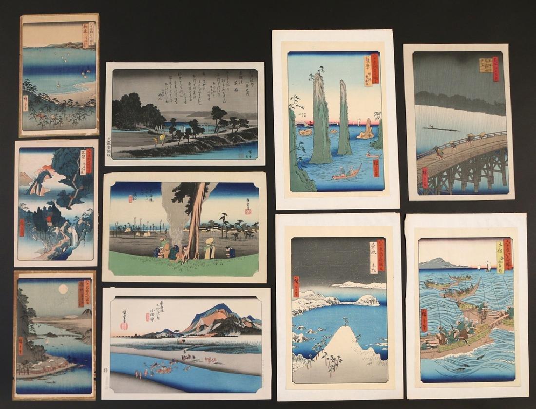 (10pc) PRINTS [AFTER] UTAGAWA HIROSHIGE