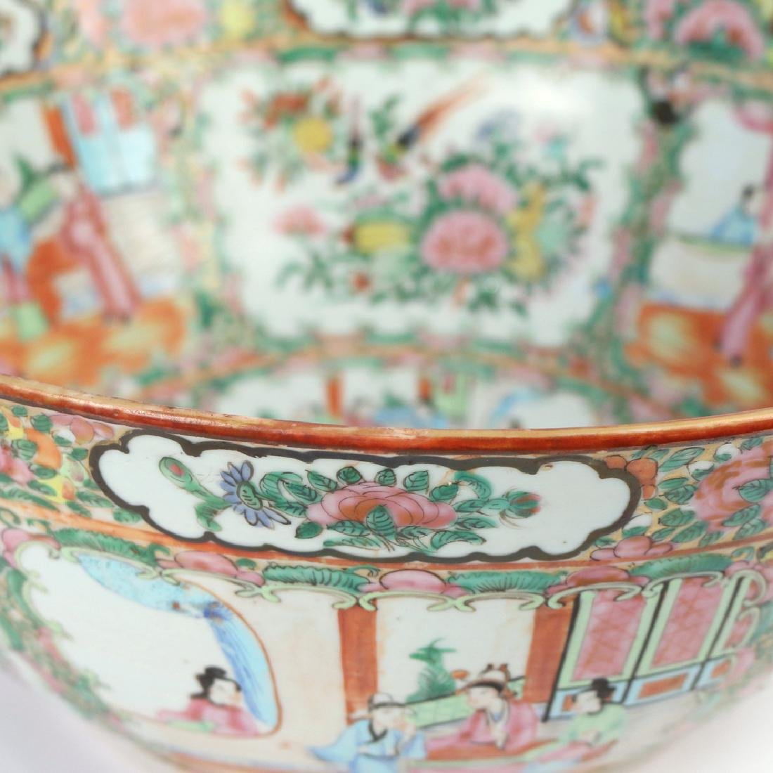 CHINESE FAMILLE ROSE PUNCH BOWL - 3