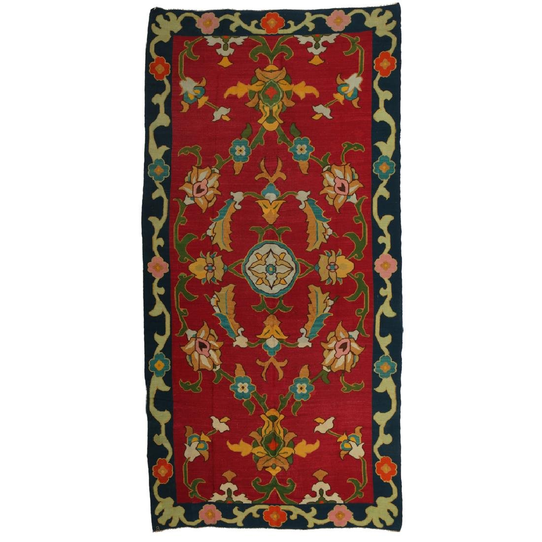 ENGLISH ARTS & CRAFTS FLATWEAVE RUG