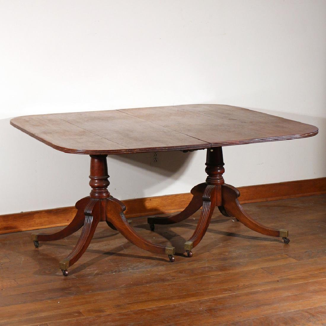 WILLIAM IV DOUBLE-PEDESTAL DINING TABLE