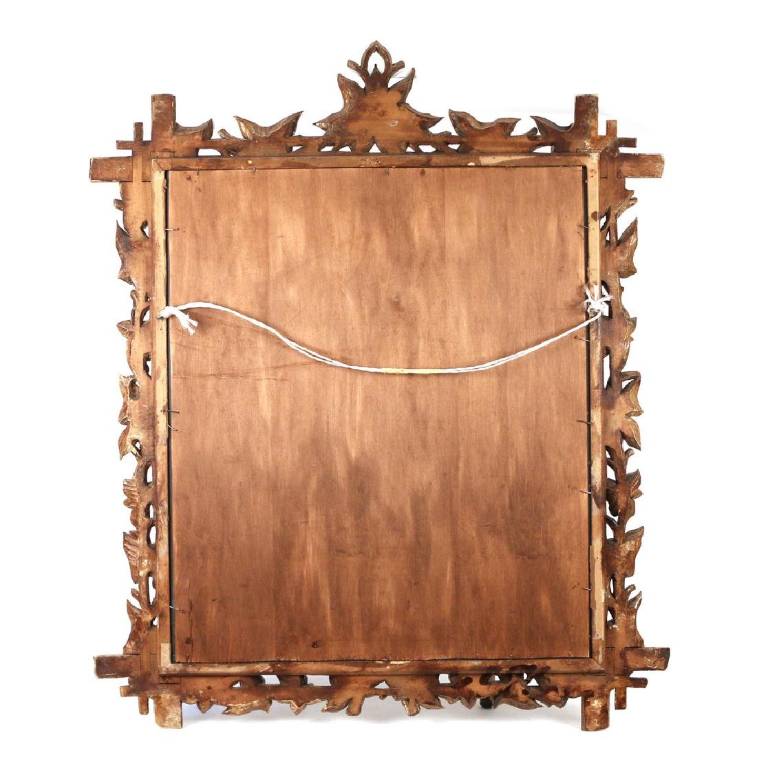 PAIR NATURALISTIC CARVED WOOD MIRRORS - 6