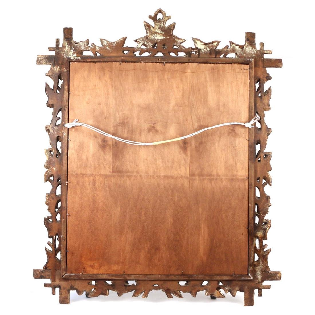 PAIR NATURALISTIC CARVED WOOD MIRRORS - 9