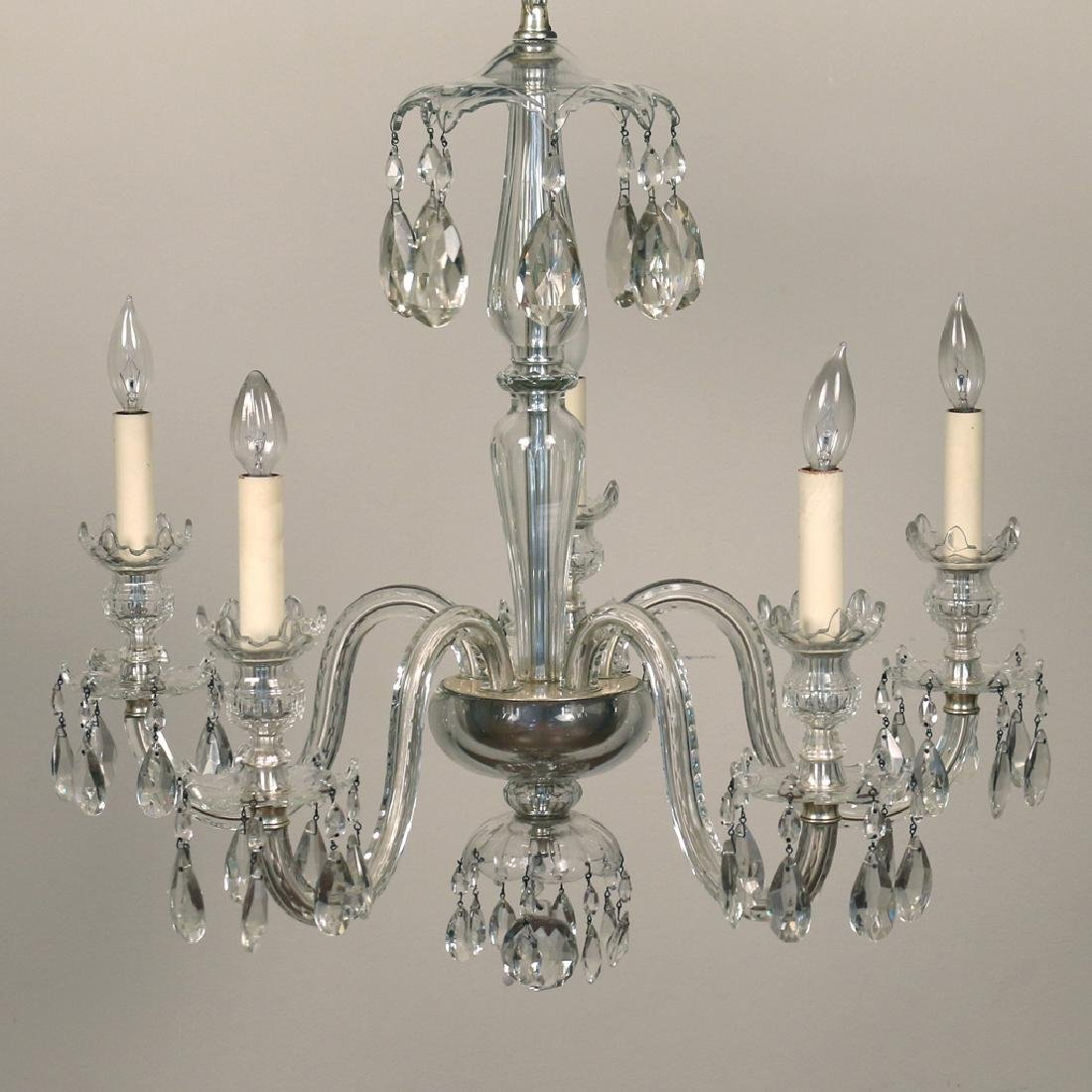 WATERFORD-TYPE CRYSTAL CHANDELIER
