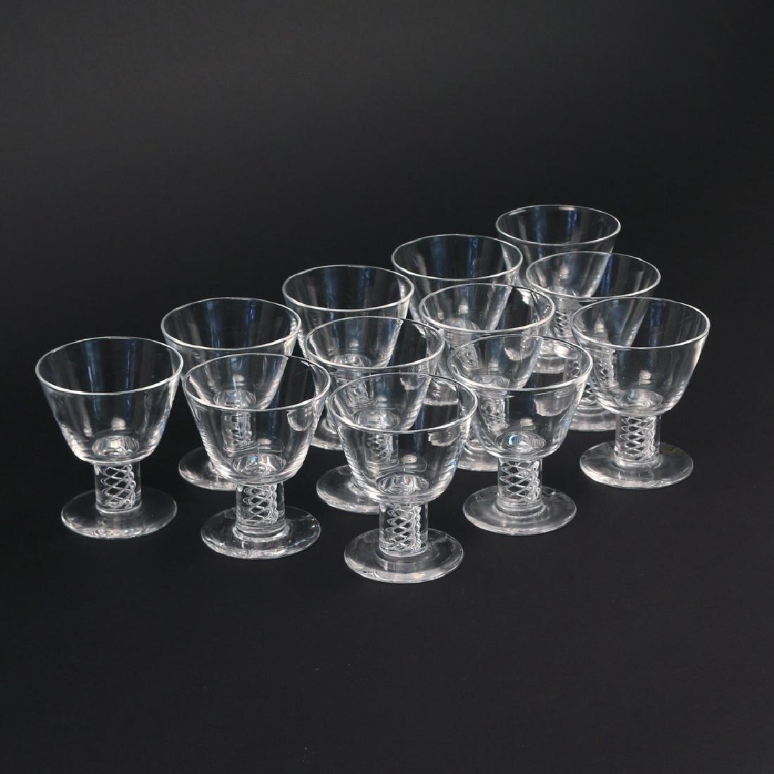 (12pc) BOXED STEUBEN 'AIR TWIST' GLASSES - 2