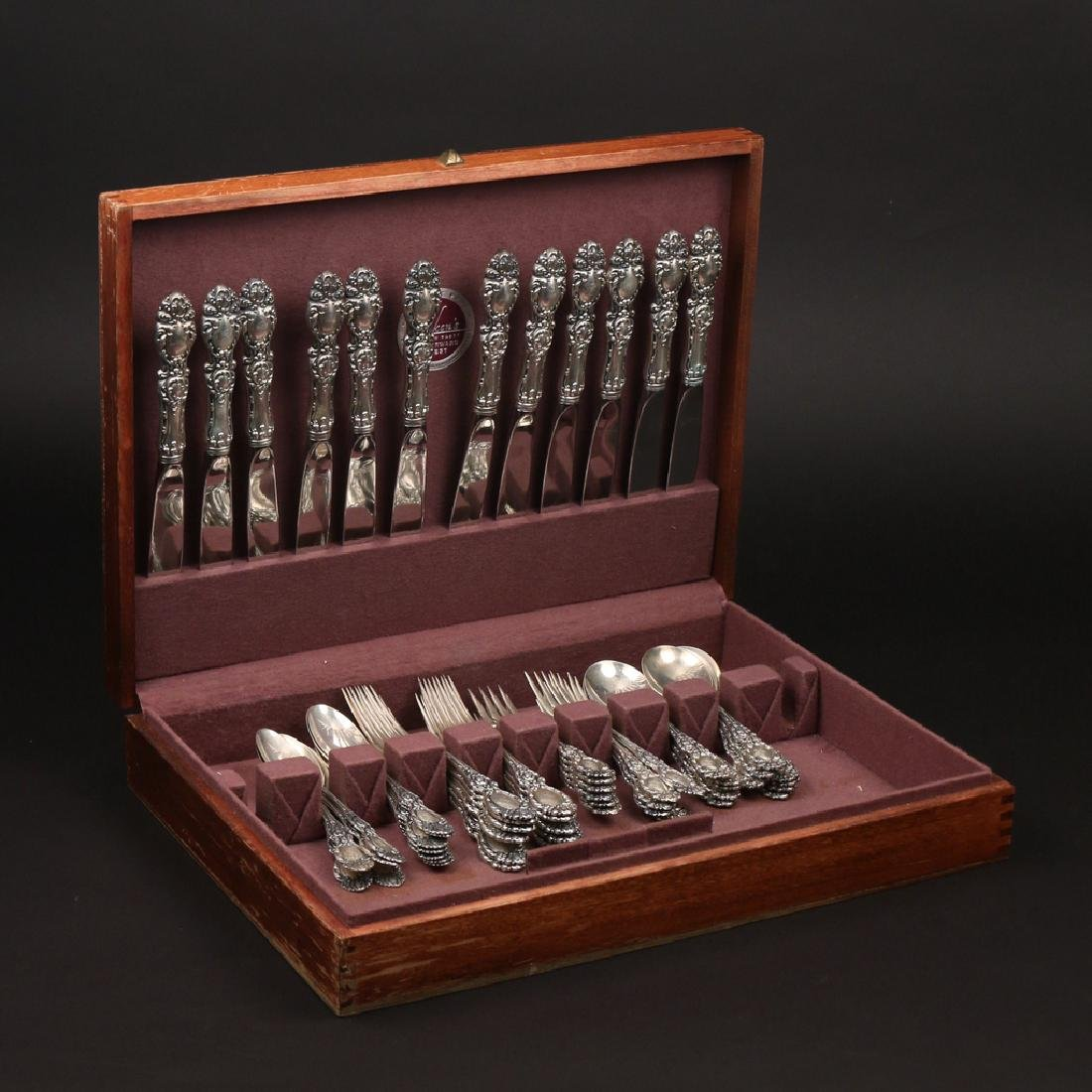 """(60pc) WALLACE STERLING LUCERNE"""" FLATWARE"""" - 3"""