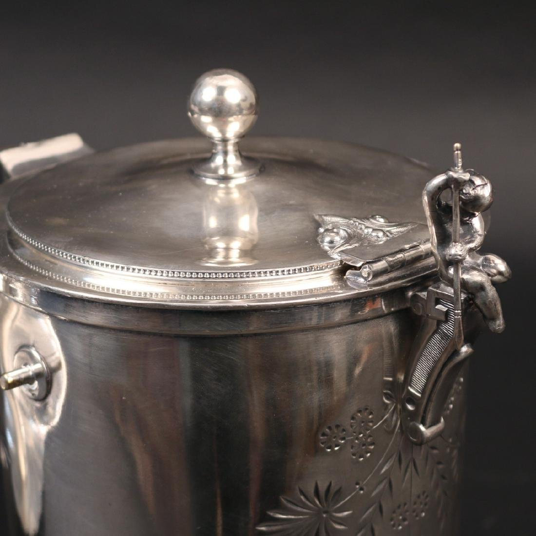 SILVER-PLATED PITCHER-ON-CRADLE - 3