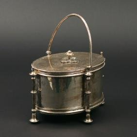 SILVER PLATE BISCUIT BOX