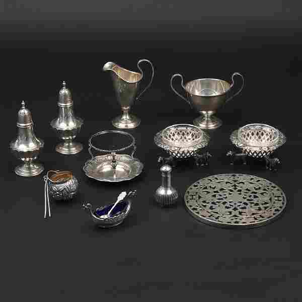 (12pc) MISC. SILVER HOLLOWARE