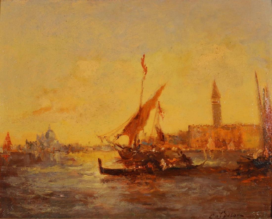 VENETIAN CANAL SCENE, 19th Century