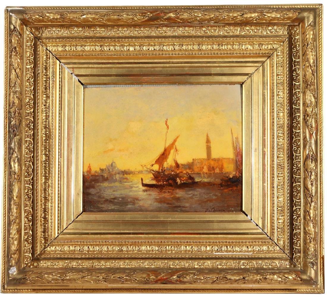 VENETIAN CANAL SCENE, 19th Century - 2