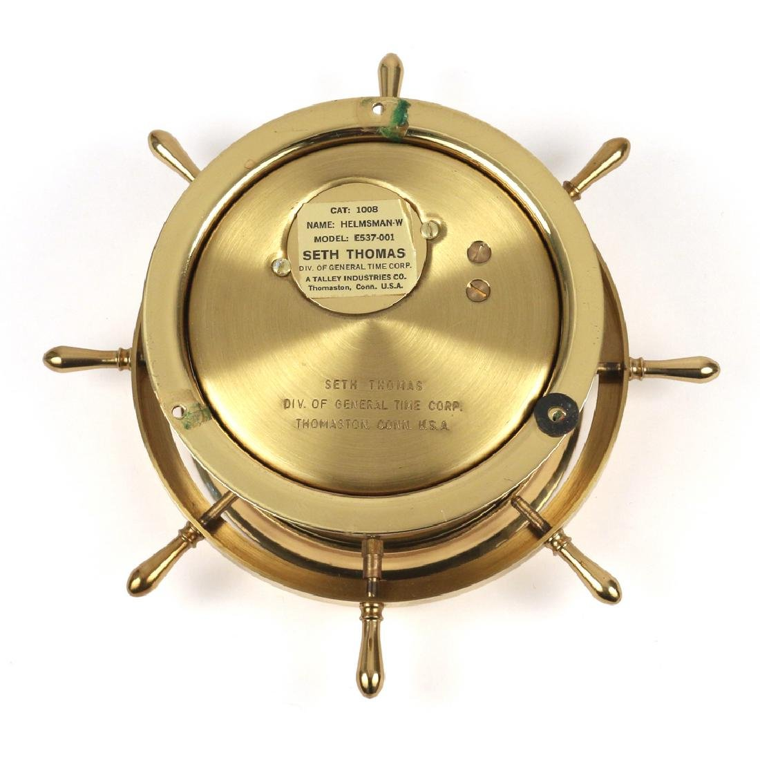 SETH THOMAS BRASS SHIP'S CLOCK - 3