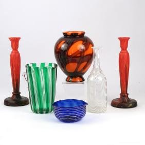 (6pc) MISC. ART GLASS