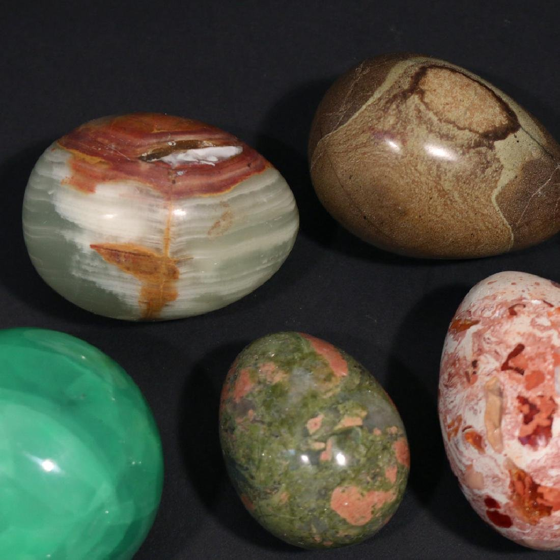 (13pc) VARIOUS STONE, GEMSTONE, & OTHER EGGS - 3