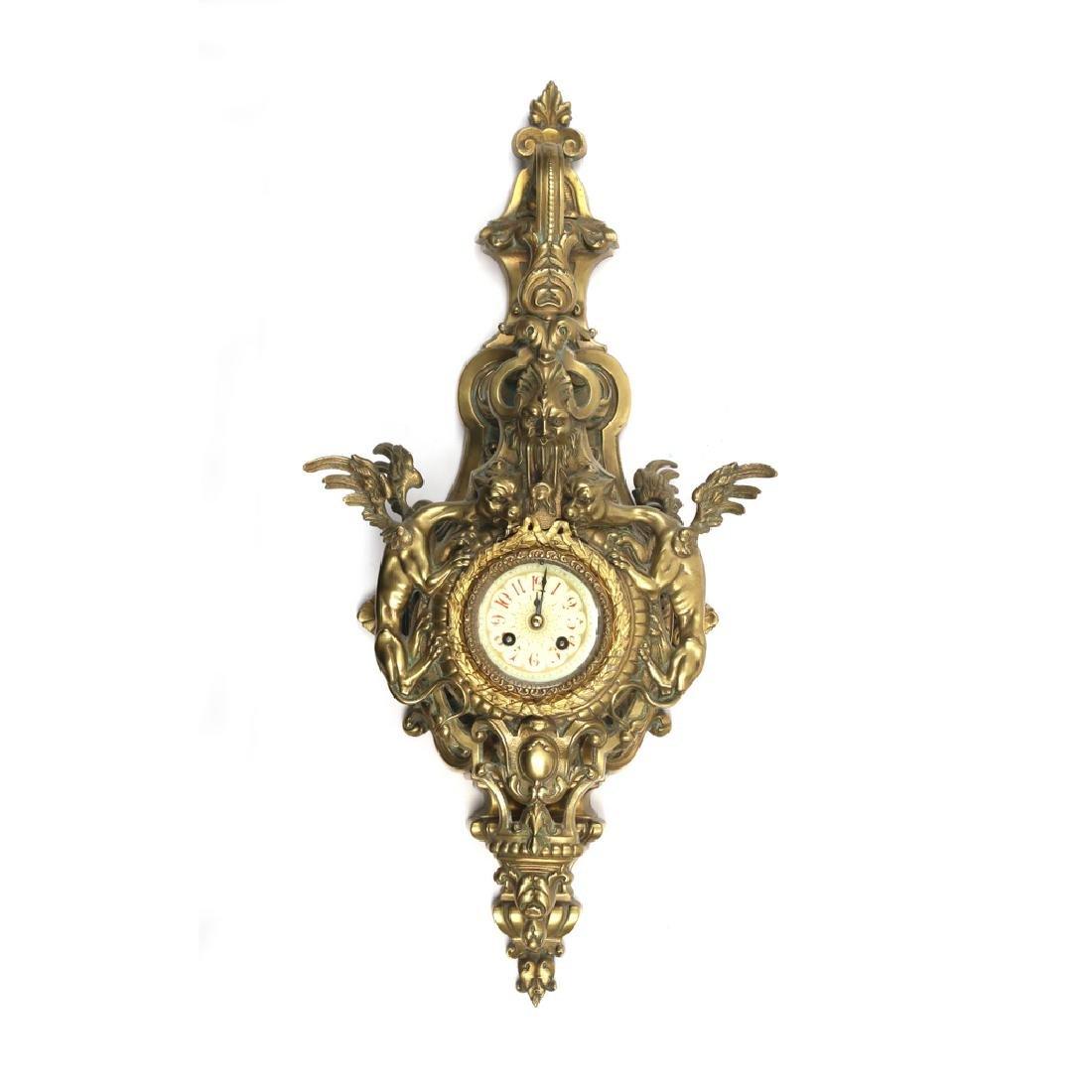 GILT BRONZE CARTEL CLOCK