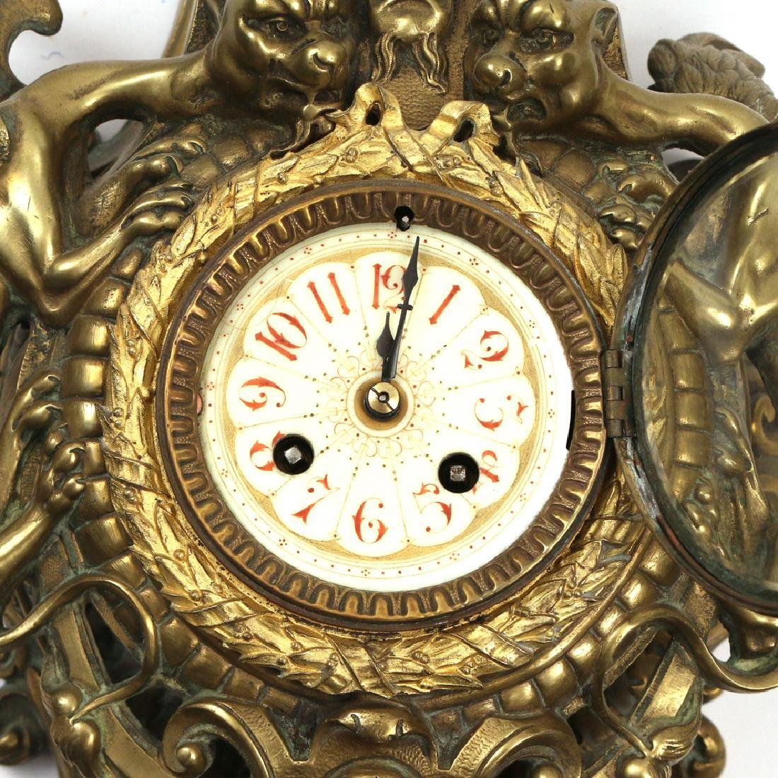 GILT BRONZE CARTEL CLOCK - 4