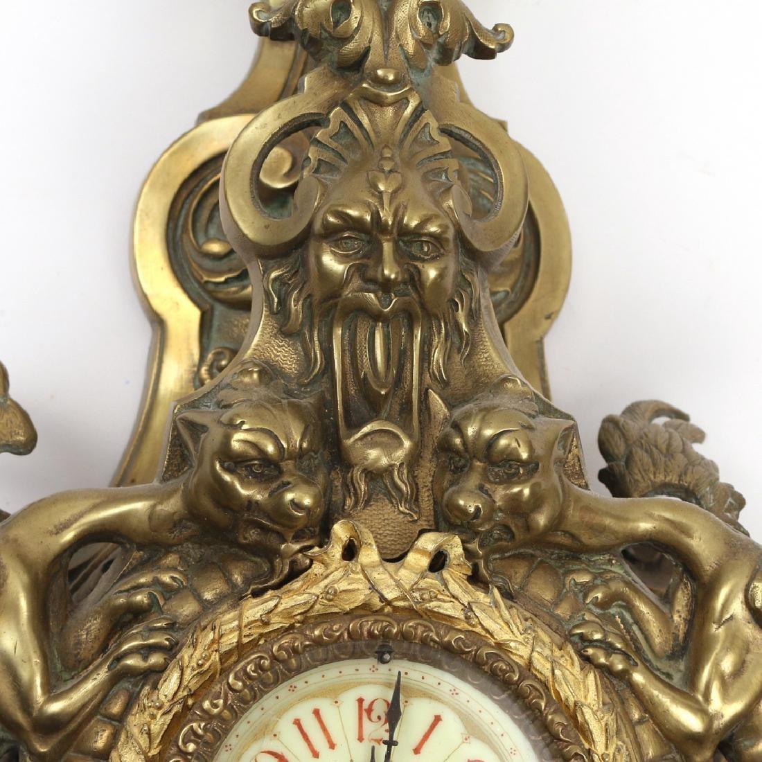 GILT BRONZE CARTEL CLOCK - 5
