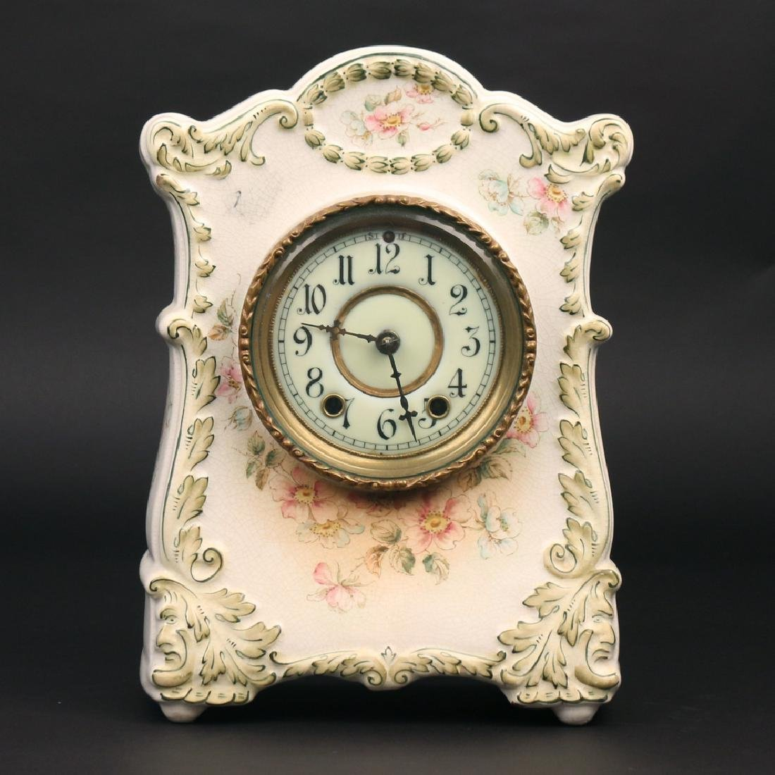 (2pc) PORCELAIN MANTEL CLOCKS - 10