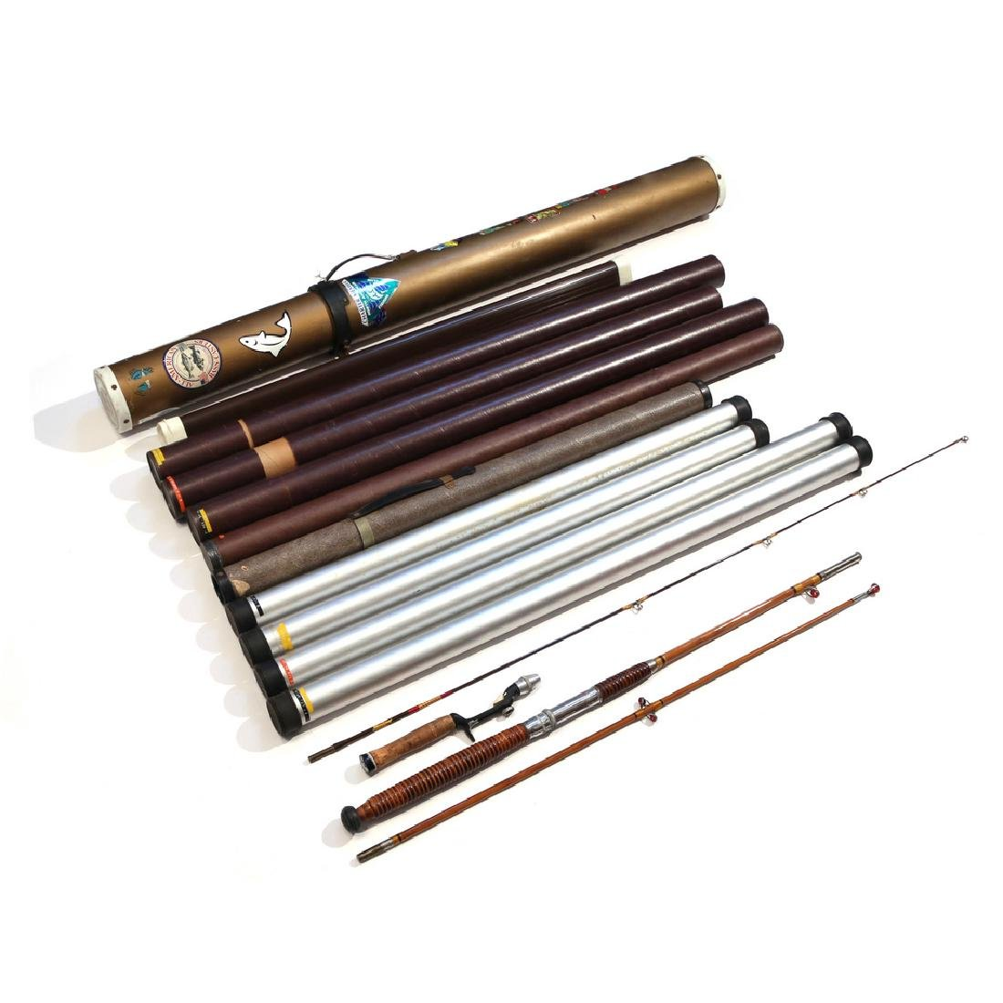 (13pc) SPIN FISHING RODS - 2