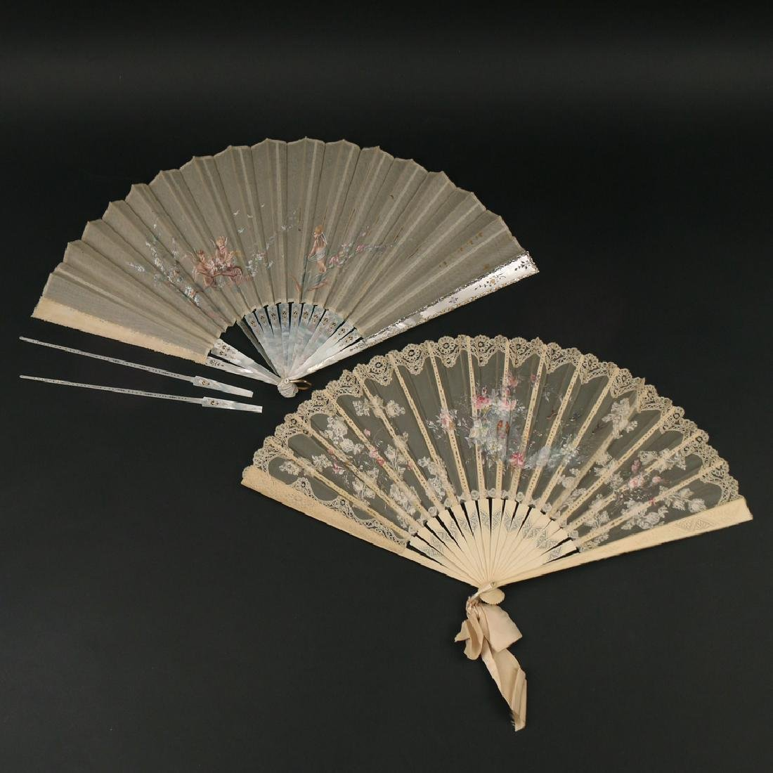 (6pc) LOT FANCY FANS - 5