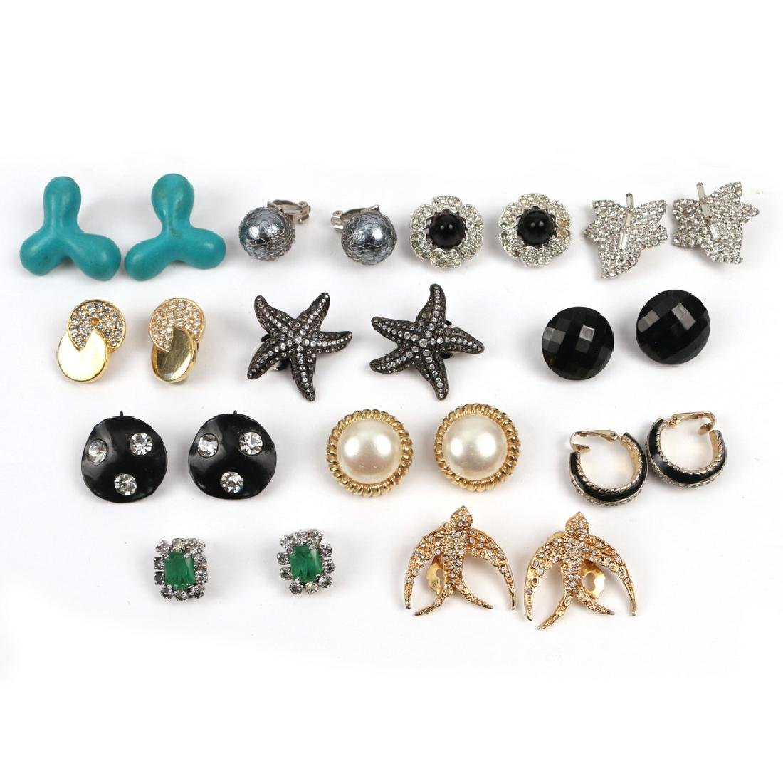 (46pc) 23 PAIRS VARIOUS COSTUME CLIP EARRINGS - 2