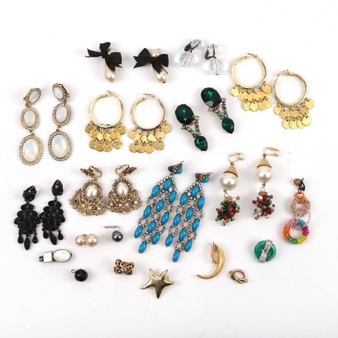 (30pc) MISC. COSTUME DROP & OTHER EARRINGS