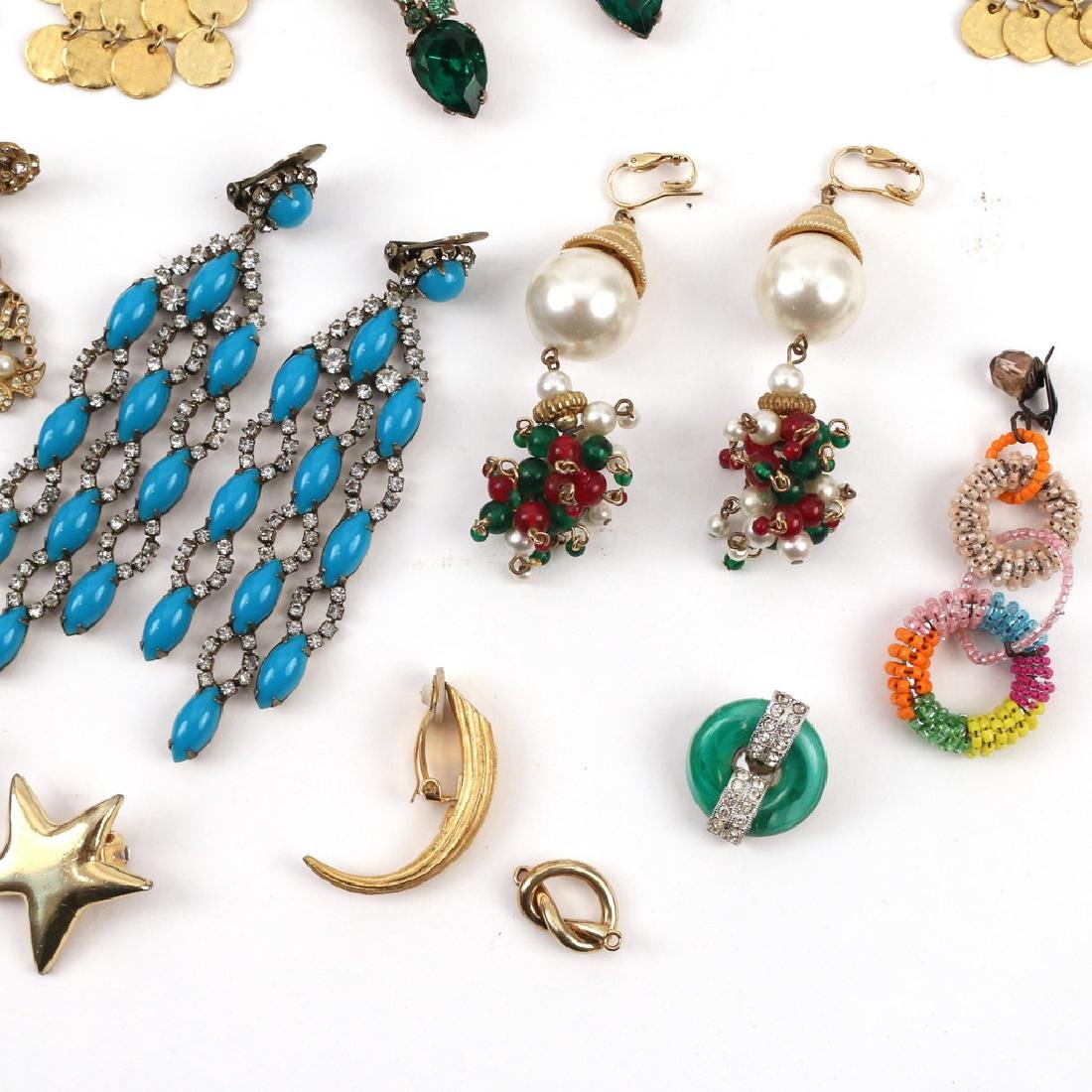 (30pc) MISC. COSTUME DROP & OTHER EARRINGS - 3