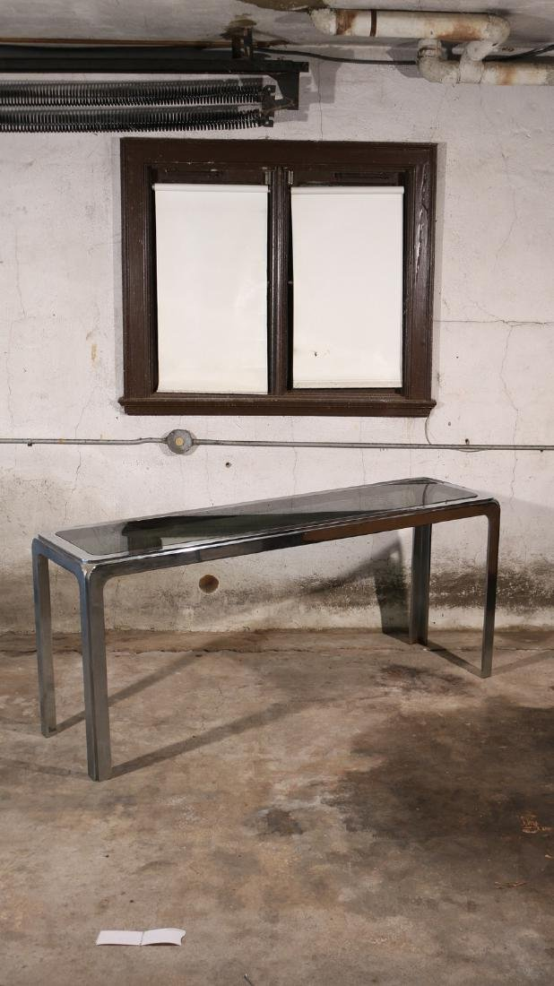 CHROME & GLASS CONSOLE TABLE - 2