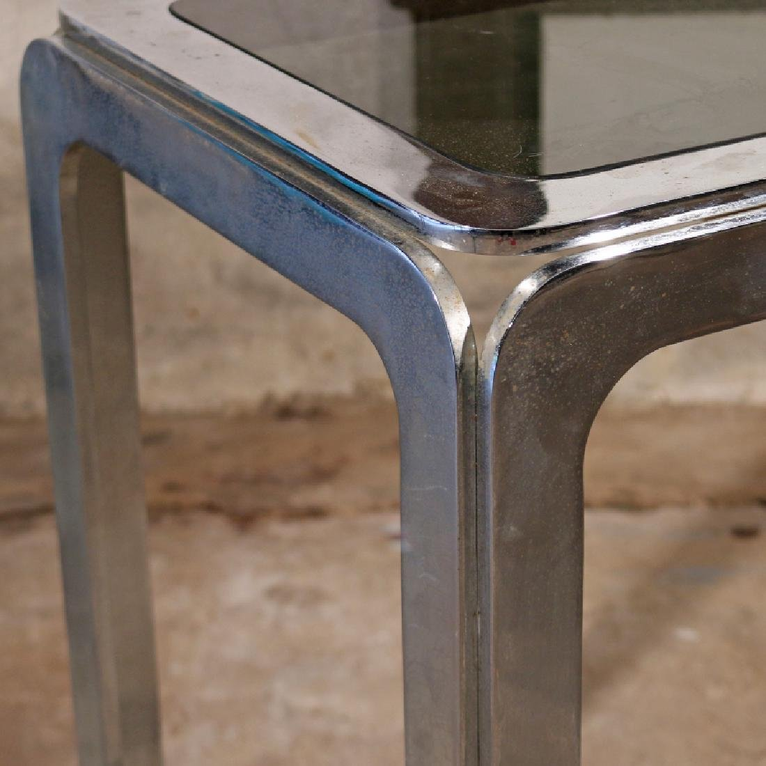 CHROME & GLASS CONSOLE TABLE - 3