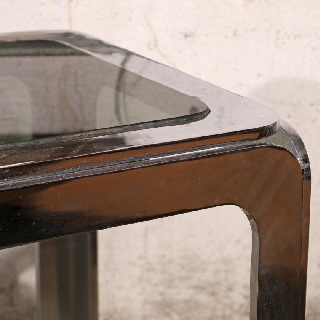 CHROME & GLASS CONSOLE TABLE - 4