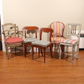 (5pc) FANCY CHAIRS