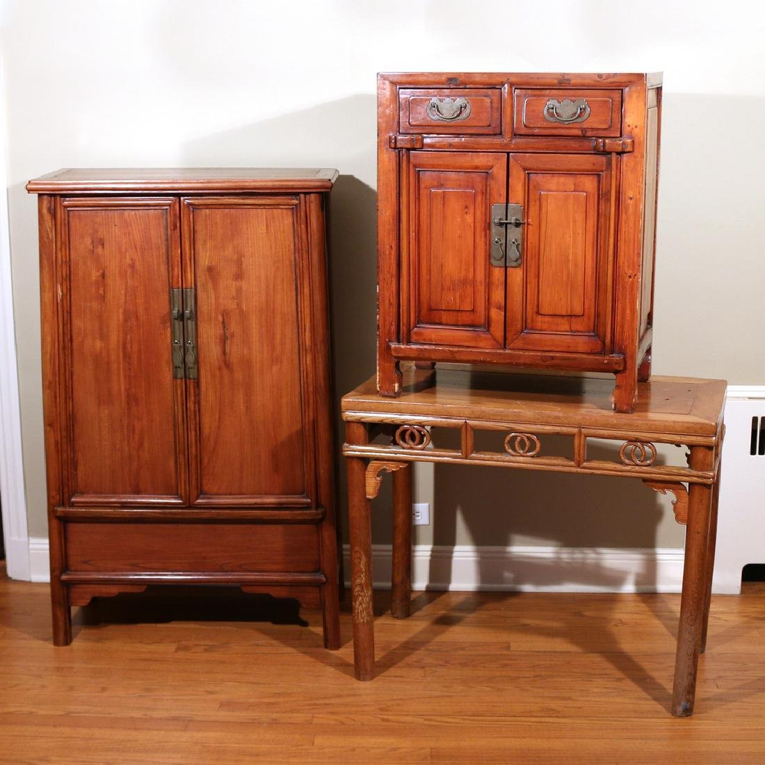 (3pc) CHINESE FURNITURE