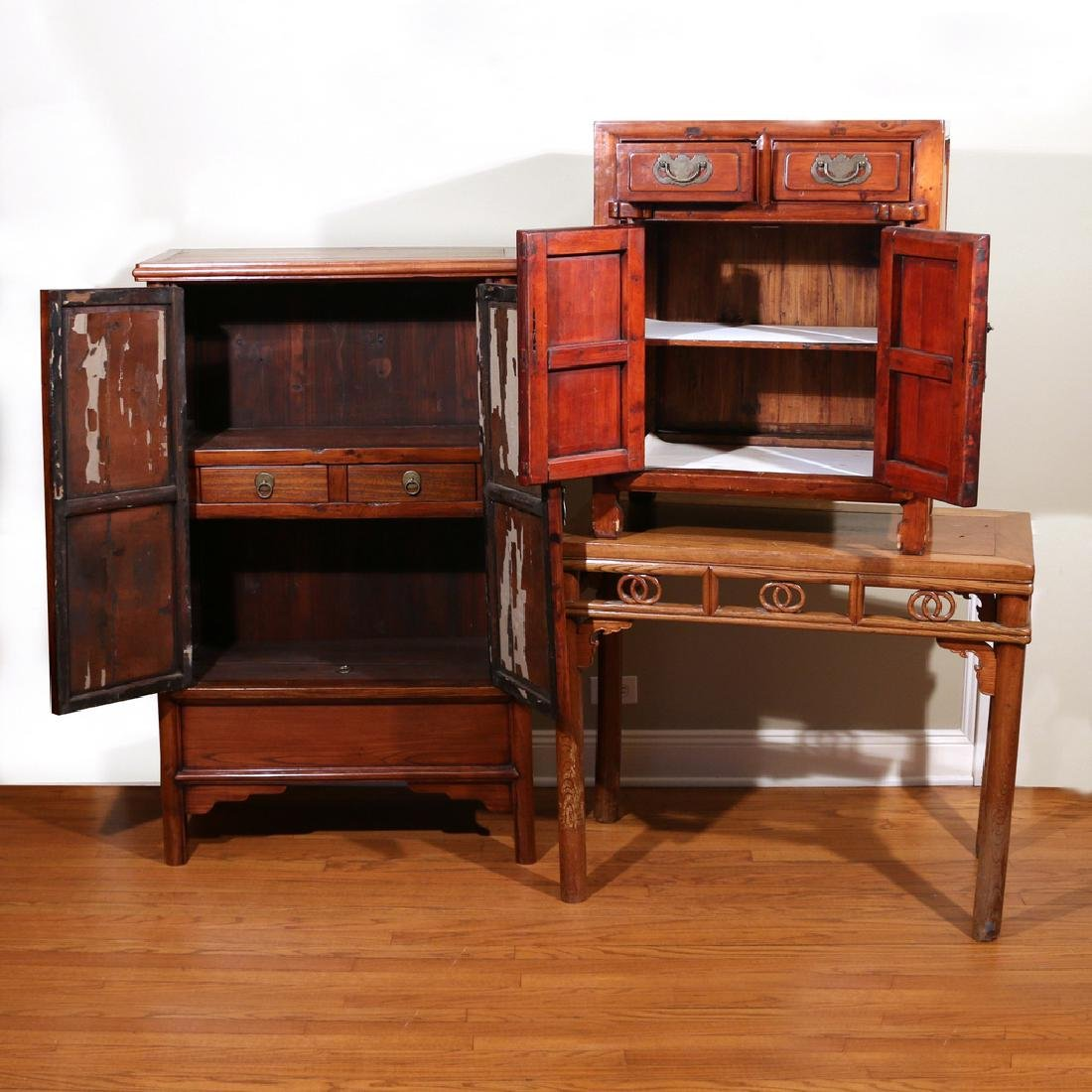 (3pc) CHINESE FURNITURE - 3