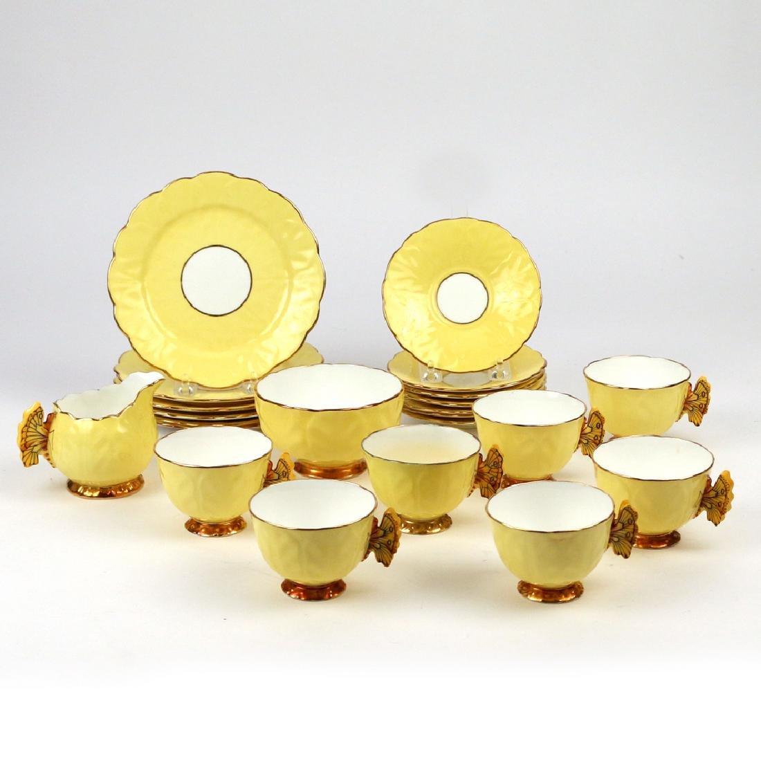 (22pc) AYNSLEY BONE CHINA TEA SET