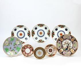 (8pc) MISC. ANTIQUE ENGLISH PORCELAIN
