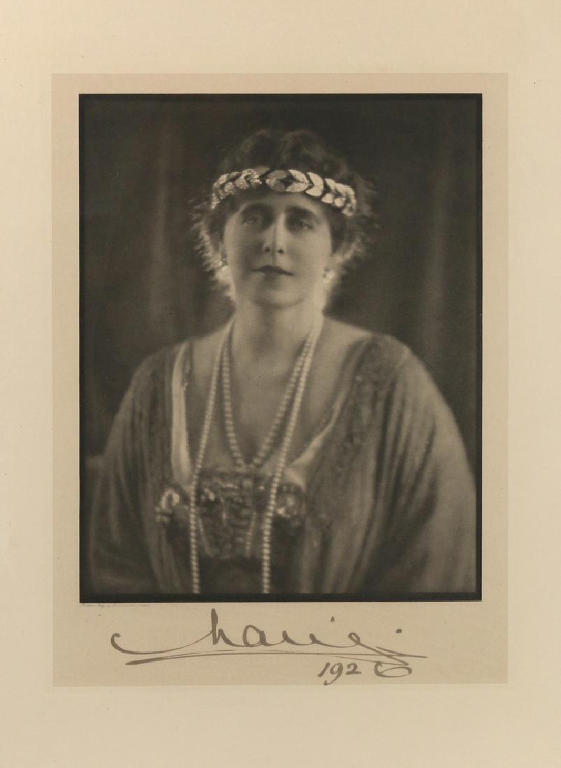 (2pc) MARIE OF ROMANIA SIGNED PORTRAIT - 2