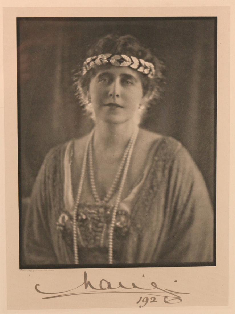 (2pc) MARIE OF ROMANIA SIGNED PORTRAIT - 6