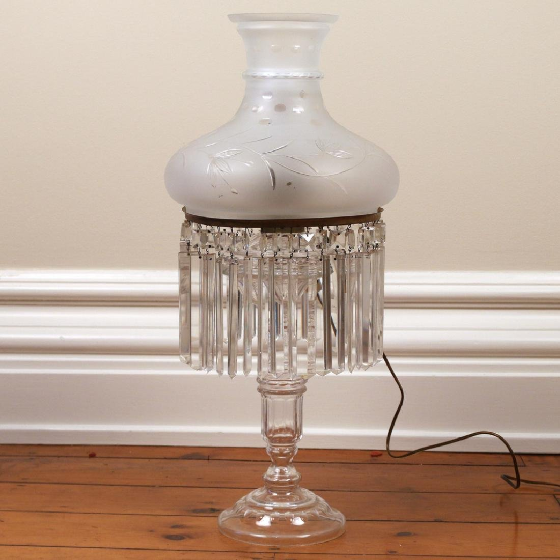 AMERICAN CUT GLASS OIL LAMP
