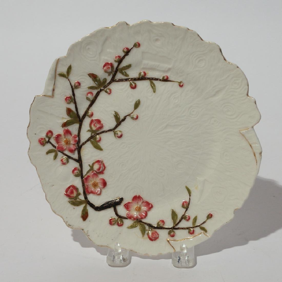 (13pc) GILT PAINTED CHERRY BLOSSOM PLATES - 2