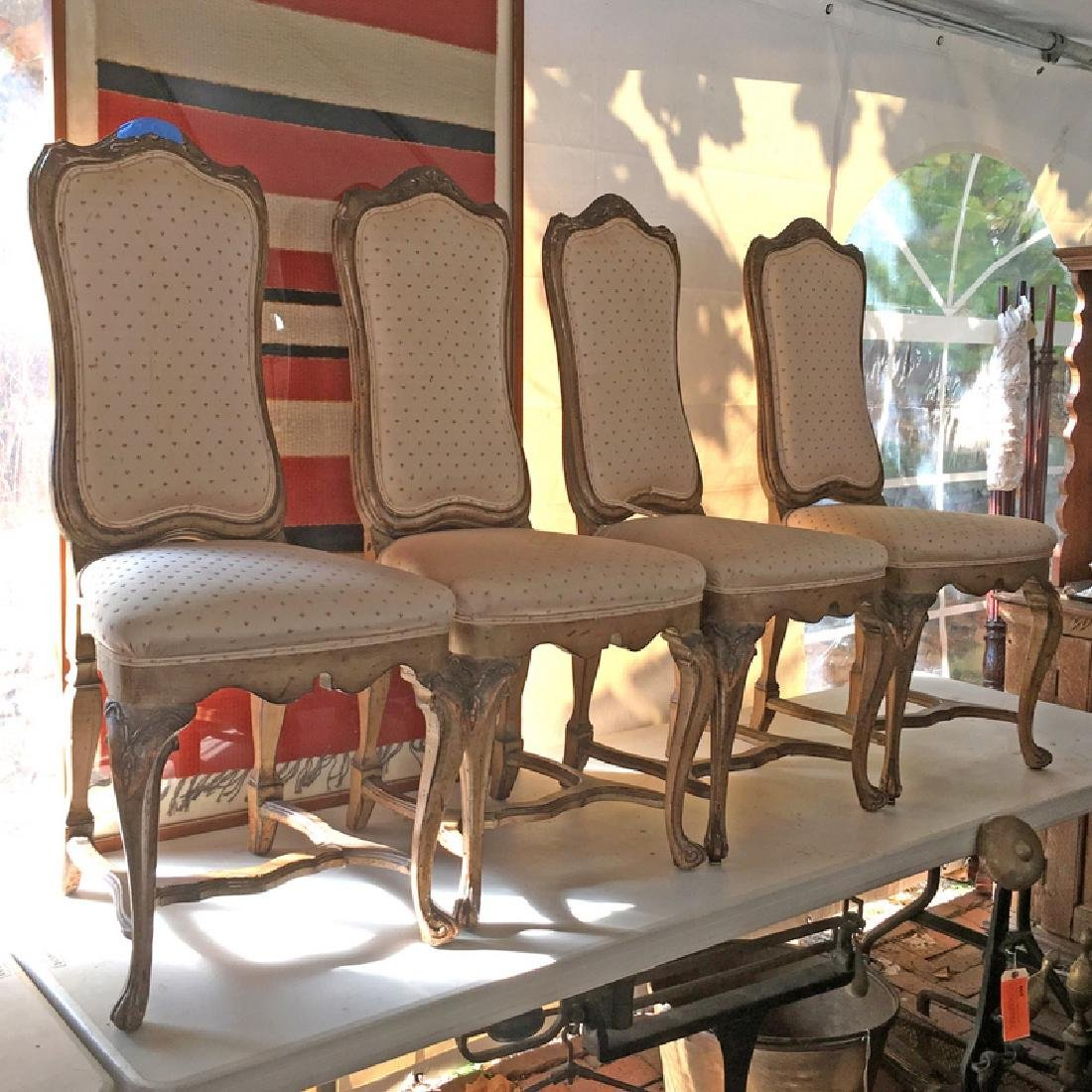 (4pc) LOUIS XV STYLE SIDE CHAIRS