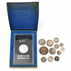 (13pc) COLLECTION SILVER COINS