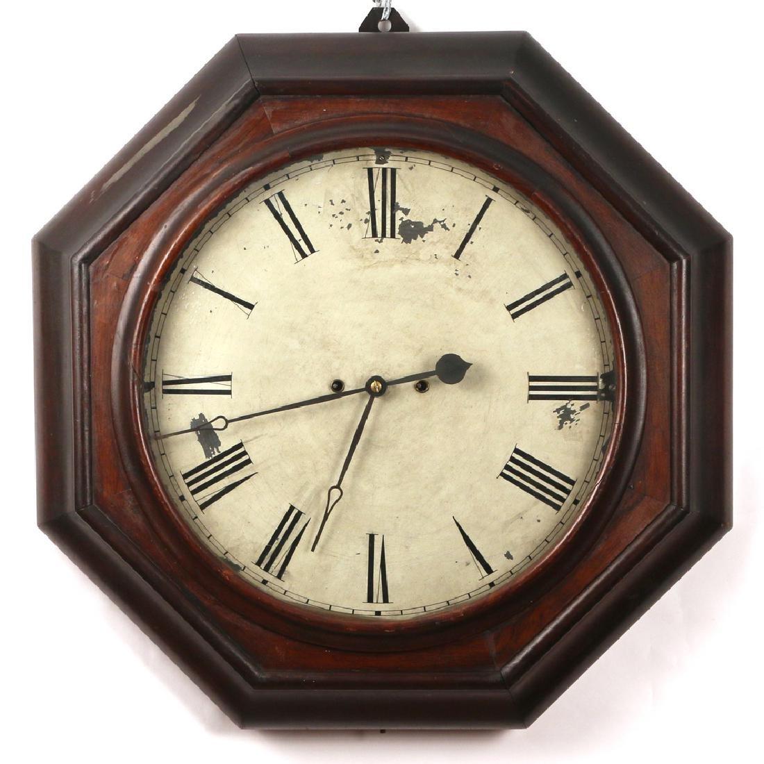 ATKINS THIRTY-DAY WAGON SPRING GALLERY CLOCK