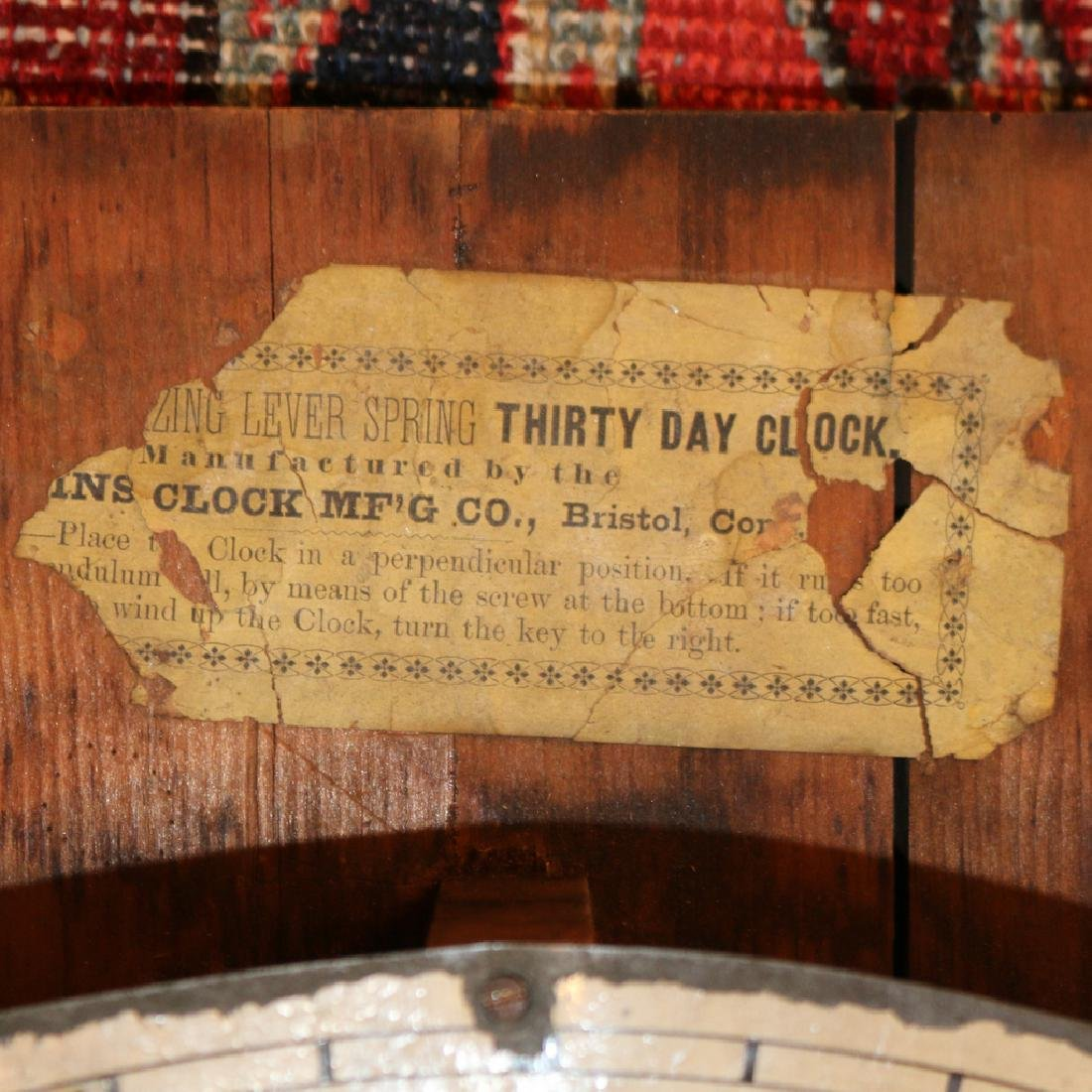 ATKINS THIRTY-DAY WAGON SPRING GALLERY CLOCK - 4