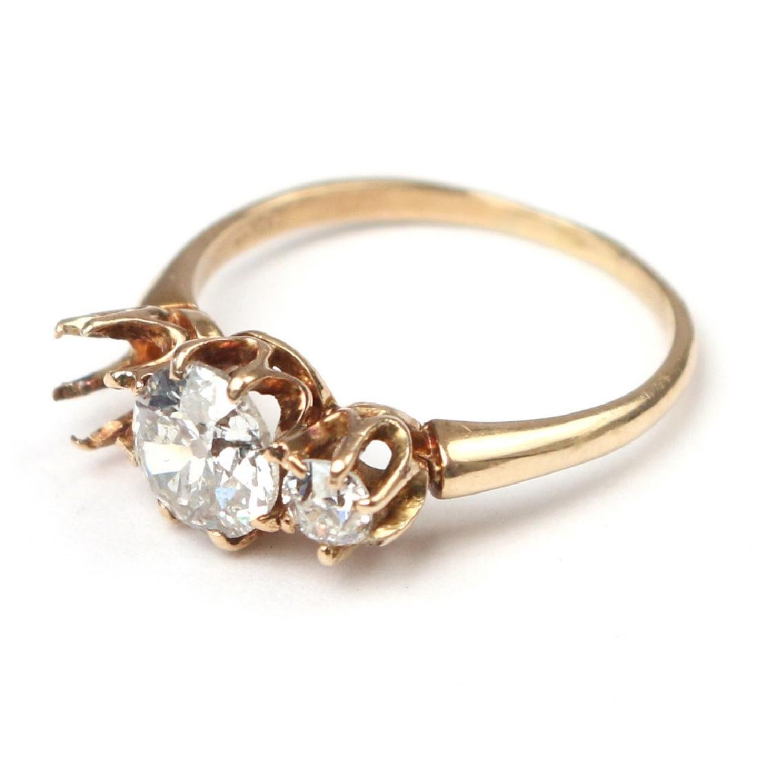 0.95ct DIAMOND & GOLD RING - 2