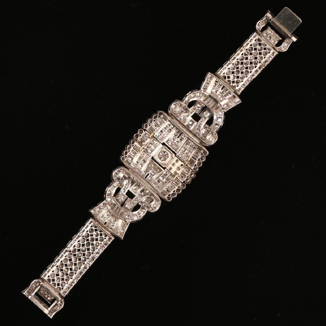 FRENCH RIBBON-FORM DIAMOND BRACELET - 2